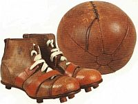 Stara historyczna piłka nożna
